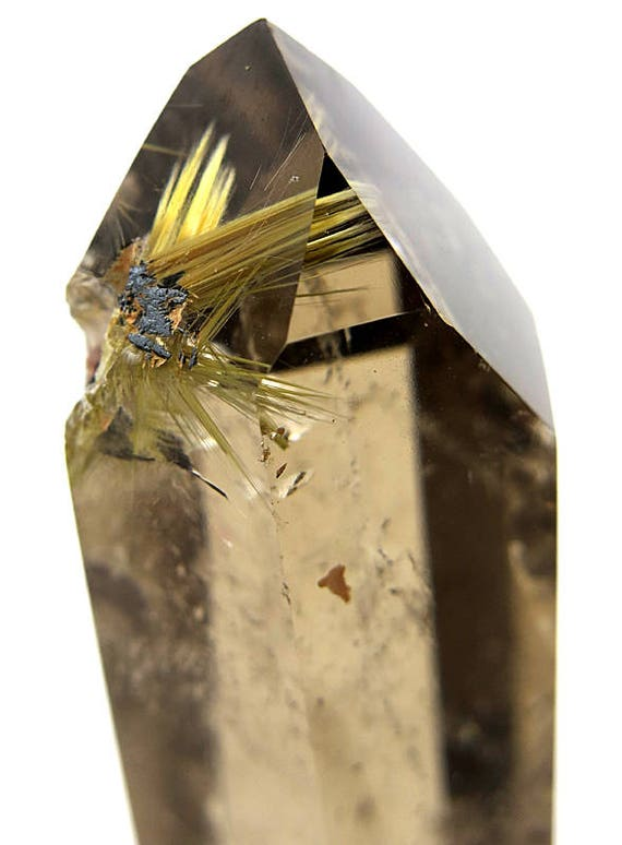 Polished Smoky point with Rutile star