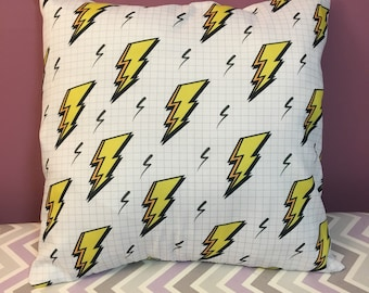 Lightning Bolt 18x18 Decorative Pillow