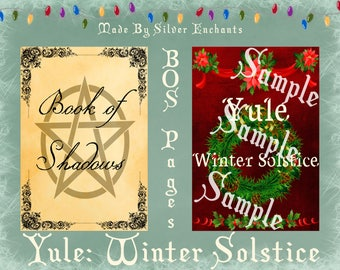 BOS Pages - Yule: Winter Solstice (Red)
