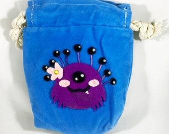 Cute D&D Dice Bags - Beholder