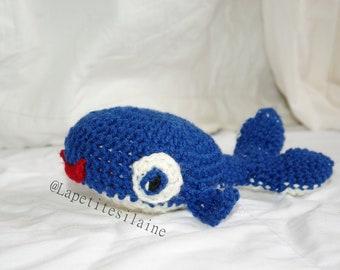 Plush whale crochet