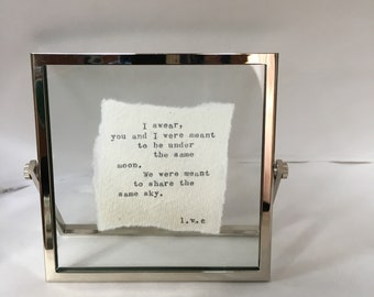 Framed writing for the one you love.