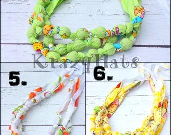Nursing necklace.Fabric Teething Necklace / Fabric Necklace / Nursing Necklace.
