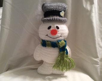 Snowman crochet tutorial , snowman doll pattern , amigurumi pattern, instant download pdf