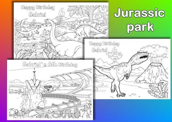 Jurassic Park para colorear páginas para colorear fiesta de