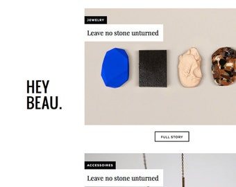 Wordpress template 'Hey Beau'