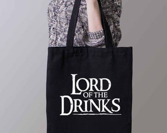Lord Of The Drinks Tote Bag - Funny Bag - Beer Bag - Vodka Bag-Free shipping Worldwide