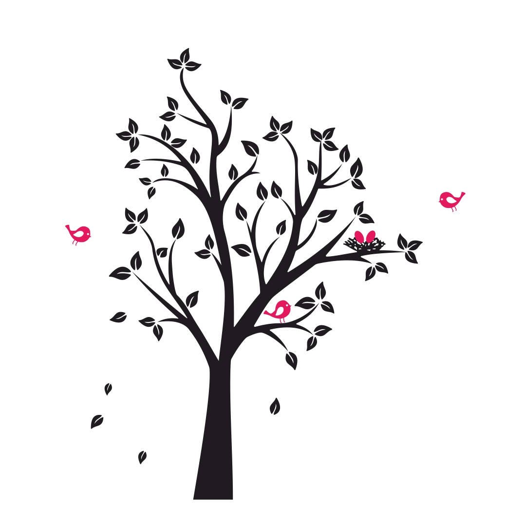 Tree Birds Nest Graphics Svg Dxf Eps Png Cdr Ai Pdf Vector Art