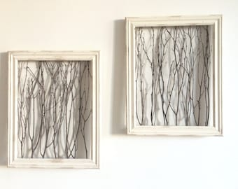 rustic framed branches 1 large frame rustic home decor rustic wall decor
