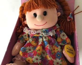 Vtg 90s Gemmy Rockin Robin Doll Dancing Musical Animated Girl Baby Plush NEW