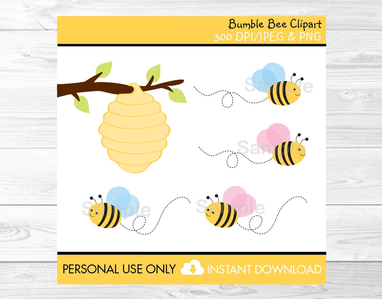 Bumble Bee Clipart Beehive Clip Art Pink & Blue Bumble Bee