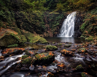 "Fine Art Photography, Ireland - ""Glenoe Waterfall"""