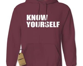 Know Yourself Adult Hoodie Sweatshirt