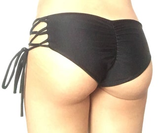 Strappy Bikini Bottom // Scrunch Bikini Bottom // Brazilian Bikini Bottom // More Colors Available