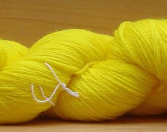 Sock (4ply), hand-dyed yarn, 100g - Lemon