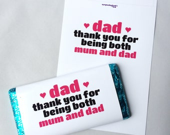 For Dad Thank You On Mothers Day With Love Galaxy Chocolate Bar Wrapper