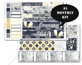 A5 Planner Stickers, Celebration Planner Stickers MONTHLY Planner Kit, Sew Much Crafting Stickers, Monthly Sticker Kit, #SQ00428-A5