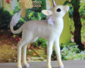 Unicorn Foal-Soft rainbow-needle felted wool-soft sculpture-pre-order! is specially made for you