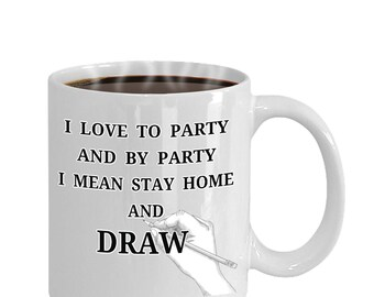 Drawing Mug Love To Draw Artist Coffee Mug Tea Cup