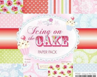 two pockets 15.2 36 papers x 15.2 cm Wild Rose ICING on THE CAKE