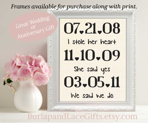 4th Wedding Anniversary Gifts For Husband: Linen Anniversary 4th Anniversary Gift To Wife Couples Gift