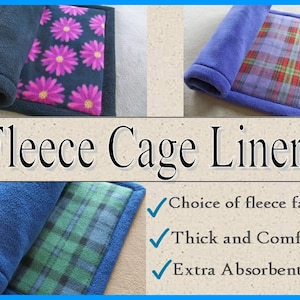 Extra absorbent Midwest cage liners, Fleece Cage Liners, Guinea pig cage liners, Guinea pig fleece, Pre wicked, 2 layers of Uhaul padding