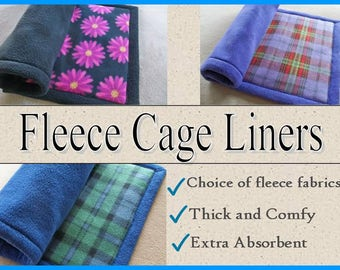 Guinea pig fleece cage liners, Extra absorbent fleece liners, Midwest, Living World, Critter Nation, Pre wicked, 2 layers of Uhaul padding