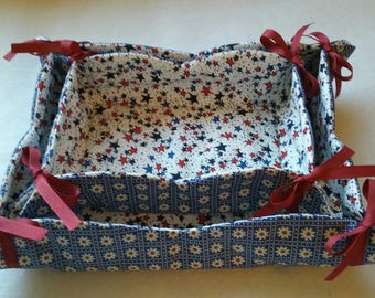 Fabric baskets, set of two