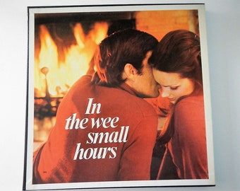 """Vintage """"In the Wee Small Hours"""" Record Album Set - vinyl, 6 records, 33 RPM- 1974 - romantic music, love songs, easy listening, retro music"""