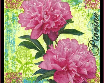 Tissue Paper Napkins Use For Decoupage, Mixed Media, Scrapbooking, Collage And Altered Art Projects