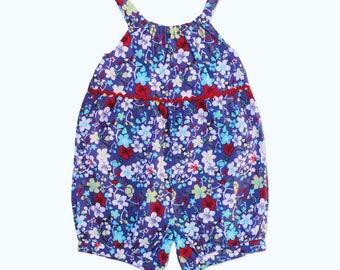 Blue Floral Mila Cotton Playsuit
