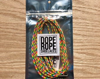 Fruity Pebbles Round Shoelace (paracord)  with custom color aglets