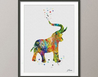 Elephant Print Elephant poster watercolor animal art illustration Elephant poster wall decor wall hanging art decor poster gift A059