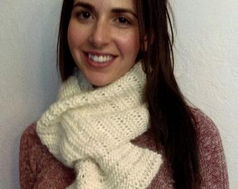 Knit INFINITY SCARF /Cowl PATTERN- Marshmallow