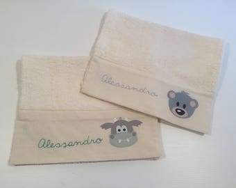 towel with name for kindergarden or sport / Personalized Towel  / Hand Towel / Embroidered Towel