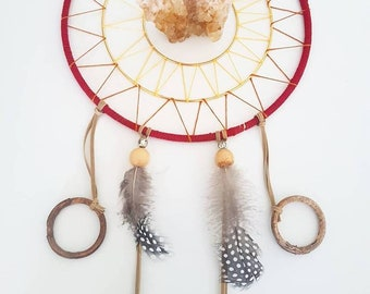 "10 "" inch dreamcatcher, vegan friendly, cruelty-free, recycled, natural - Sun Goddess"