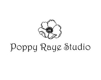 Poppy flower business custom rubber stamp