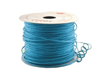 Paper Cord Turquoise Wired Flexible Tourbillon Craft Cord 10 yards