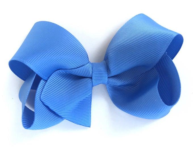 Carolina blue hair bow - hair bows, bows, hair bows for girls, girls bows, toddler bows, baby bows, boutique bows, big hair bows, hairbows