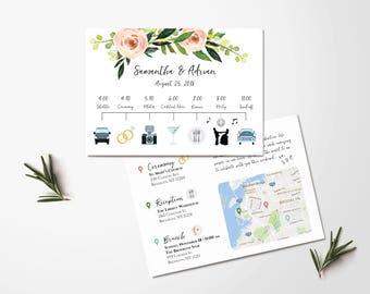 Custom Wedding Timeline   Wedding Itinerary Timeline  Wedding Day Schedule    Icon Timeline   Wedding
