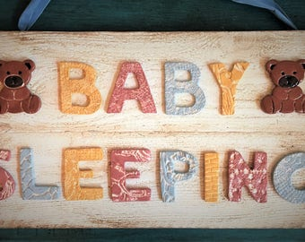 Ceramic Baby Sleeping Sign