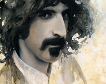 "ORIGINAL Frank Zappa painting, 16x20"", oil on panel"