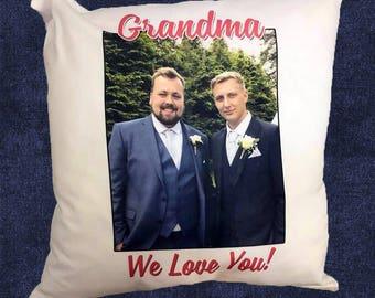 Personalised Cushion, Printed Photo Pillow,  Custom Photo Gift, New Home, 40 x 40cm/16 x 16 inch Cushion