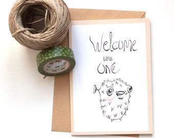 Card / Greeting card / Newborn card / Birth card / Baby card / Baby Shower card / Babyshower / Baby Boy card/ Baby Girl card / Handmade card