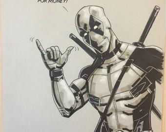 Deadpool - by comic book artist Blair Shedd