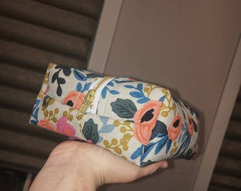 Rosa floral boxy bag