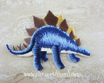 Iron On Patch, Embroidered Dinosaur Appliques
