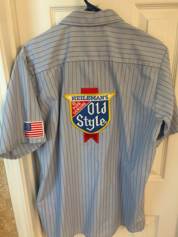 Hamm's or Old Style vintage work shirt 8Fe7S
