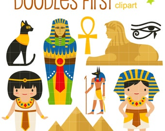 Ancient Egypt DIgital Clip Art for Scrapbooking Card Making Cupcake Toppers Paper Crafts