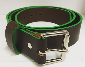Brown and Green Belt 38mm